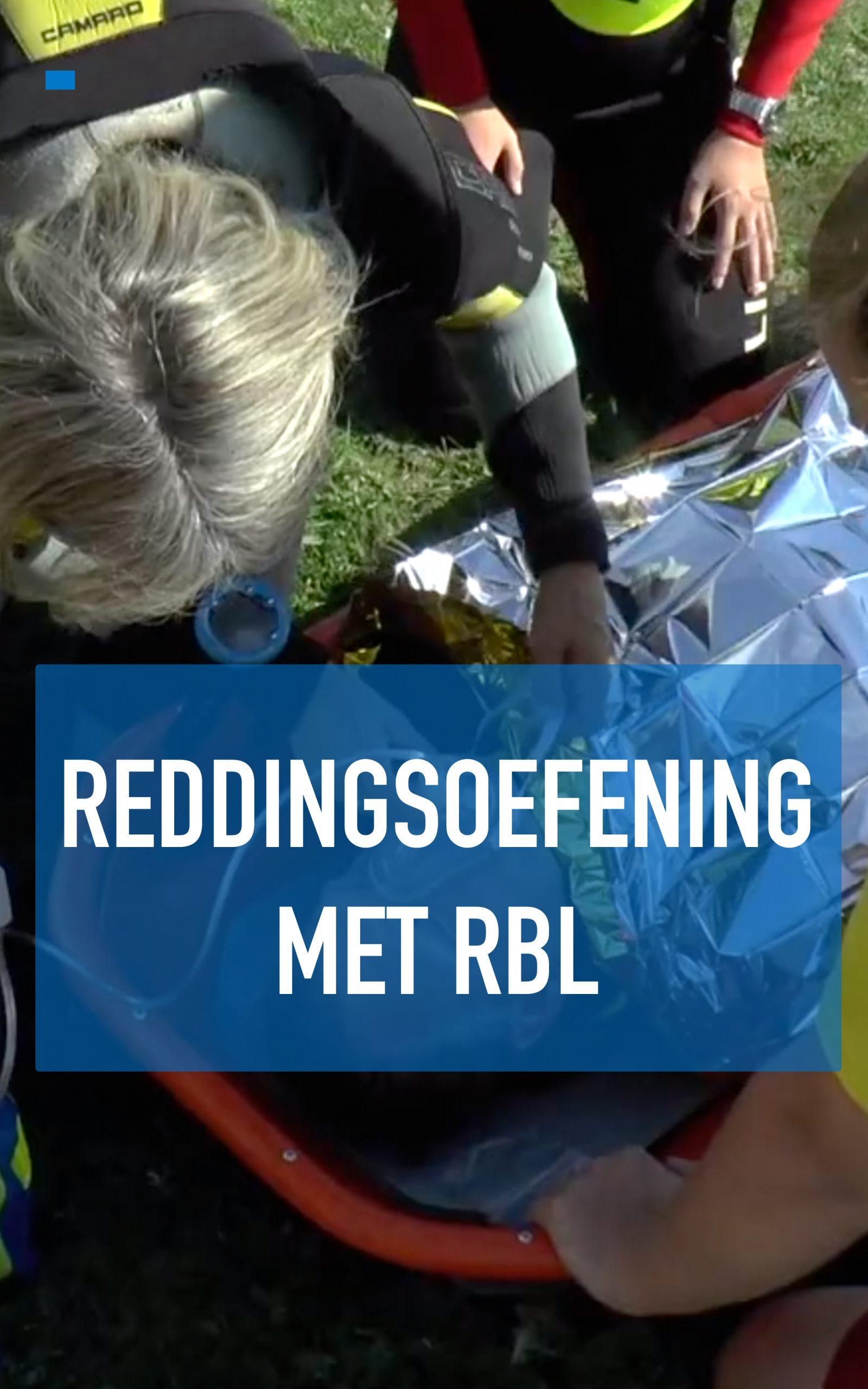 Reddingsoefening met RBL